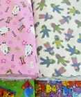 NEW NOVELTY FLANNEL 100 cotton fabric sports cat dog frog sheep sock monkey 1yd