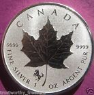 2014 1 oz Silver Canadian Maple Leaf HORSE PRIVY Reverse Proof .9999 fine