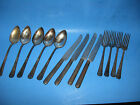 Lot of Spoons, Forks and Knives Tarnish Silver WW Rodgers