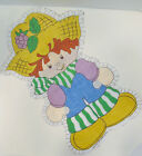 Vtg 1980 CUT & SEW Pillow Fabric Panel Doll Strawberry Shortcake Friend