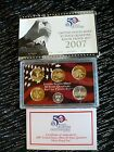 2007 UNITED STATES MINT 50 STATE QUARTERS 90% SILVER PROOF SET W/COA
