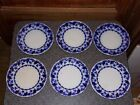Antique Johnson Brothers Astoria Flow Blue Plate Set of 6