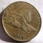 1857 AU/UNC FLYING EAGLE SMALL CENT ID# W787