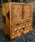Rare Antique Japanese C1900 Marquetry Tambour Desk Chest of Drawers 14