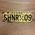 Shiner Bock Spoetzl Brewery - License Plate Tin Tacker Sign - New - Texas - Beer