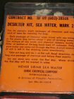 US Air Force 1966 Vietnam Era Sea Water Desalter Survival Kit