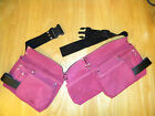 Hot Magenta Pink Tool Belt Utility Pocket Leather Construction Women Girl Ladies