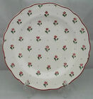 Vintage Johnson Brothers England Bonjour Ironstone Dinner Plate Burgundy Flowers