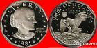 1981 S Susan B Anthony Type 1 Deep Cameo Gem Proof No Reserve