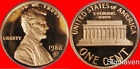 1986 S Lincoln Cent Deep Cameo Gem Proof No Reserve