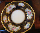 D&C Limoges Porcelain Antique Hand Painted Cobalt and Gold Plate 9