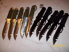 5 BLACK 5 SILVER Color Survival knives wholesale lot Clearance hunting bug out
