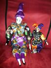 Sugar Loaf Classiques Toys Halloween Themed Jester Porcelain Doll Lot of 2 - NEW