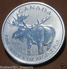 2012 CANADIAN MOOSE Silver Coin 1 troy oz .9999 fine Royal Canadian Mint