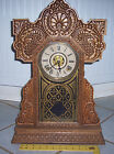 antique ~ The E. Ingraham Co. ~ Shelf/Mantel oak Clock ~ The Sessions Clock Co.