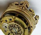 Outstanding&rare antique Verge Fusee gild doctor's King Skull watch/pill box