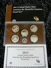 2012 UNITED STATES MINT AMERICA THE BEAUTIFUL QUARTERS PROOF SET/COA