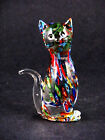 Murano Art-Glass Millefiori Cat Figurine