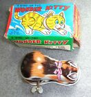 Wonder Kitty wind up cat toy made in Japan by Yone mint boxed