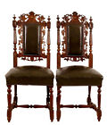 1800-1899 Belgium 6 Century Black Forest Carved Dining Room Chairs Free Shipping