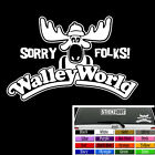 """WALLEY WORLD Vinyl Decal Window Sticker National Lampoon Vacation Marty Moose 8"""""""