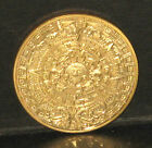Stunning 24ct gold plated Mexican Aztec Astrological Long-Count Calendar coin