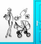 Wall Stickers Vinyl Decal Mom Family Stroller Baby Birth Maternity ig1765
