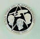 1991 Limited Edition Star Trek 25th Anniversary .925 Fine Silver Round 6.32 oz