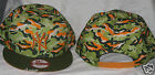 NEW YORK YANKEES NEW ERA 9FIFTY CAMO GREEN AND ORANGE SNAPBACK 1FIT HAT CAP NWT