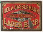 1870's AMERICAN BEER / BREWERY TIN LITHOGRAPH ADVERTISING SIGN By WELLS