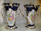 Old Pair of Paris Urn - Hand painted - Hand crafted