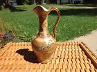 Royal Satsuma Oriental Hand Painted 10 inch tall Pitcher with Gold Handle