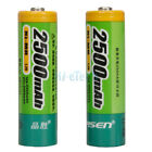 2Pcs PISEN 2500MAH 1.2V AA Ni-MH Rechargeable Batteries for Camera CD MP3