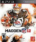 Madden NFL 12  (Sony Playstation 3, 2012)~Mint Cond! No Scratches!