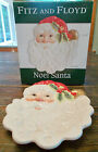 FITZ AND FLOYD NOEL SANTA CHRISTMAS SANTA CANAPE DESSERT PLATE NEW IN BOX HP