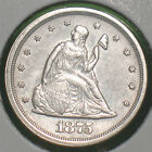 SCARCE 1875-S SILVER 20 CENT PIECE***AU DETAILS**SEE AD***DONT MISS THIS ONE