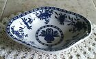 Blue & White Flow Blue Ironstone Dish By James M. Shaw, New York USA.    #432