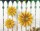3 pc Sunflower Wall Art Decor Hanging Metal Yellow Flower Fall In Outdoor Fence