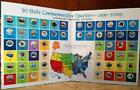 1999-2009 Colorized Commemorative State Quarter Collection 56 Coins And Map