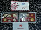 2002 UNITED STATES MINT SILVER PROOF SET SAN FRANCISCO MINT 10 COINS COA