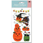 Pumpkins Costume Party Garland Halloween Pirate Witch Jolees 3D Stickers
