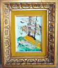 Morris Katz Original Oil Painting on Board Artist Signed 1981 Trees/Landscape