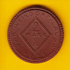 ANUNVER: WW1 Notgeld Coin Porcelain 2 Mark 1921 Bad Weixdorf Lausa
