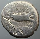 MARK ANTONY, SILVER, GALLEY, EAGLE, STANDARDS, DENARIUS, 32-31 B.C.