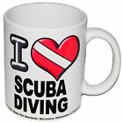 I Heart SCUBA DIVING 11 oz Mug Coffee Mug Printed Both Sides DIVERS