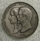 France - 1855 - Napoleone III Zinc Medal - Universal International Expo - 50mm
