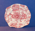 JOHNSON BROTHERS ENGLISH CHIPPENDALE RED 7 5/8 INCH SQUARE SALAD PLATE (3-C)