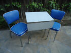 Vtg Retro Mid Century 1950's Formica Drop-Leave's Kitchen Table Cart Wth Chairs!