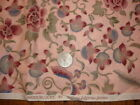 Vintage Cotton Fabric HOFFMAN WOODBLOCKS FLORAL ON PINK Pink/Blue/Green 22