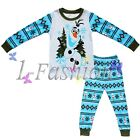 Frozen Olaf Boys Girls Pajamas PyJAMAS 2pc long T-Shirt Pants Sleepwear Set 2-7